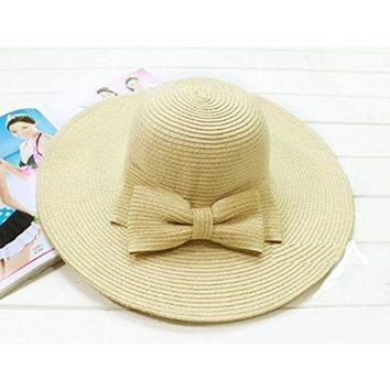LMF78W ITFABS Newest Arrivals Fashion Hot Fashionable Women's Brim Summer Beach Sun Hat Straw floppy Elegant Bohemia cap