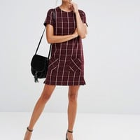 New Look Check Shift Dress at asos.com