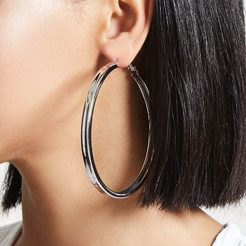 Chunky Drop Hoop Earrings