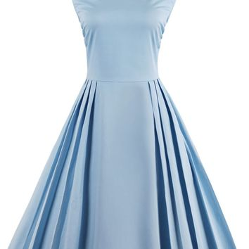 Chicloth Right here Waiting Light Blue Vintage Dress