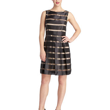 Tahari Arthur S. Levine Petite Abbie Fit and Flare Dress