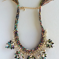 Royal Amalfi Statement Tassels Necklace