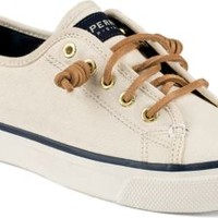 Sperry Top-Sider Seacoast Canvas Sneaker IvoryCanvas, Size 6M  Women's Shoes