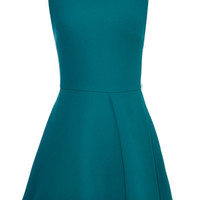 Green Stretch Cady Mini Dress by Elie Saab - Moda Operandi