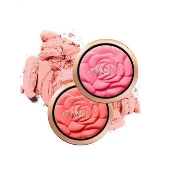 Rose Blush Powder Face Makeup Baking Blush With Puff Bronzer Baked Cheek Color Blusher Palette Sexy Red Pink Blush Powder