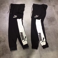 Puma Woman Men Fashion Drawstring Pants Trousers Sweatpants