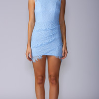 PRETTY IN LACE DRESS IN BABY BLUE