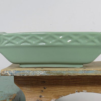 Abingdon Art Pottery Window Planter . Jade Green . Circa 1930s