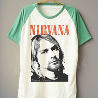 Nirvana Shirt Kurt Cobain Shirt Alternative Rock Tee Shirt Short Sleeve Shirt Short Baseball Shirt Unisex T-Shirt Women T-Shirt Men T-Shirt