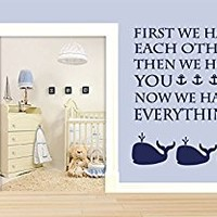 Wall Decal Vinyl Sticker Decals Art Decor Design Sign Letters Family Anchor Whale Kit Ocean Sea Quote Kids Children Nursery Bedroom (r373)