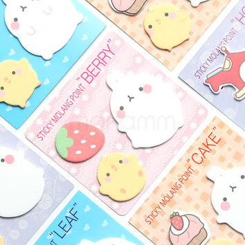 Kawaii Cute Planner Korean Rabbit Animal Sticky Notes Memo Pad Flake Sticker Post It Offce School Supplies Student Stationery