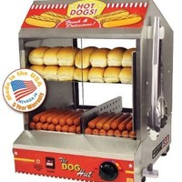 The Dog Hut Hotdog Steamer and Merchandiser