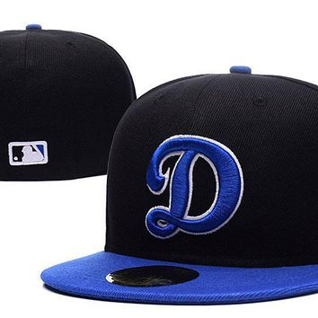 PEAPON Los Angeles Dodgers New Era MLB Authentic Collection 59FIFTY Cap Black-Blue D