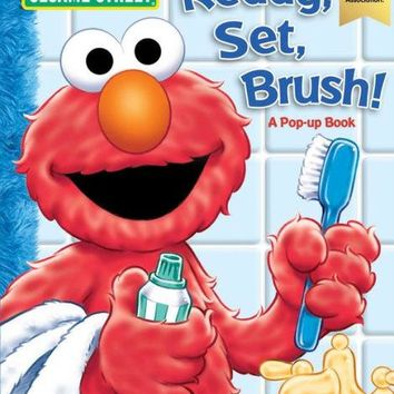 Sesame Street: Ready, Set, Brush! A Pop-Up Book by Sesame Street (Board Book)