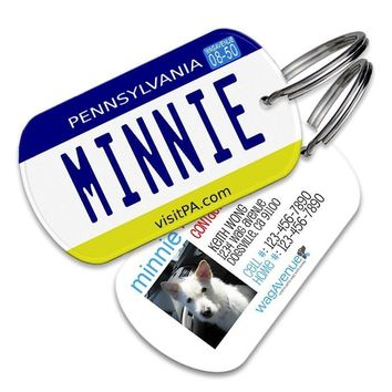 Pennsylvania License Plate Pet Tag