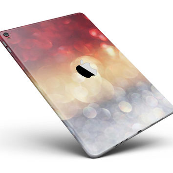 """Red and Gold Unfocused Glowing Orbs Full Body Skin for the iPad Pro (12.9"""" or 9.7"""" available)"""