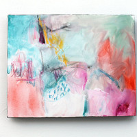 """Abstract Painting Expressionist Modern Art """"What I Meant To Say"""""""