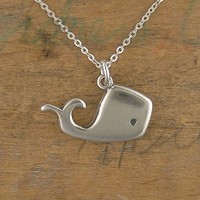 Little Whale Necklace by marmar on Etsy