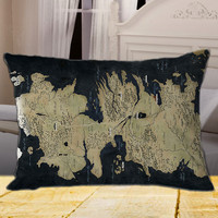 Map Game of Thrones on Rectangle Pillow Cover