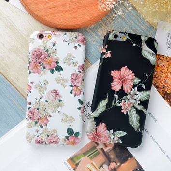 Flower Printed Cute Case for iPhone
