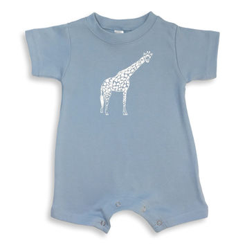Giraffe Short Sleeve Infant Romper