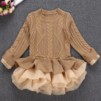 Thick  and Warm Little Girl's Princess Dress
