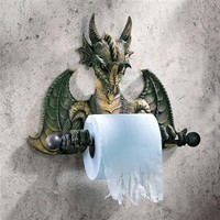 SheilaShrubs.com: Bath Tissue Tyrant - Commode Dragon CL45492 by Design Toscano: Wall Sculptures