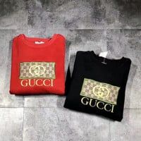 GUCCI Women Men Embroidery Casual Long Sleeve Sweater Pullover Sweatshirt