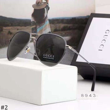 GUCCI 2018 new men's driver driving large frame polarized sunglasses #2