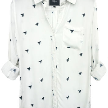 Rails Rocsi Button Down in White Pony Ride