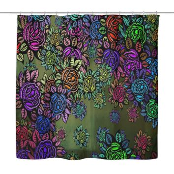 Blooming Botanical Shower Curtain