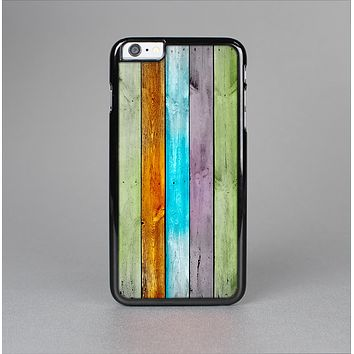 The Vintage Colored Wooden Planks Skin-Sert Case for the Apple iPhone 6 Plus