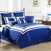Cozy Beddings Lux Décor 8-Piece Comforter Set