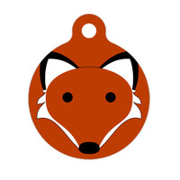 Pet ID Tag - Foxy Pet Tag, Dog Tag, Cat Tag