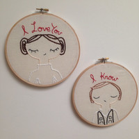 Princess Leia and Han Solo hoop set