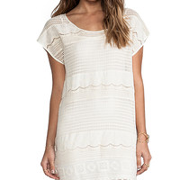 Somedays Lovin Dimensions Lace Tee Dress in Cream