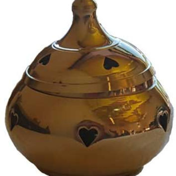 "3"" Heart brass cone and Resin incense burner"