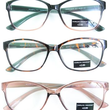 Marilyn Monroe Fashion Print Reading Glasses 3 Pack Readers +2.00