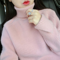 Korean students sweet turtleneck sweater