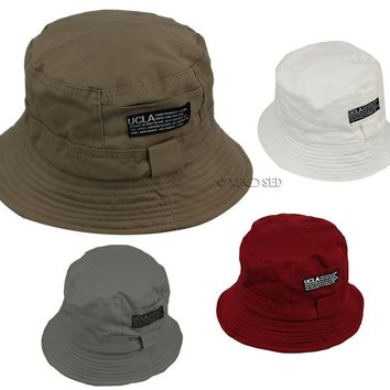 Mens Womens Bucket Hat Summer Beach Festival Fishing Boonie Sun Cap One Size
