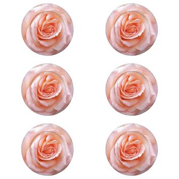Blushing Rose Floral Pack Of Small Button Covers