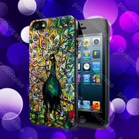 Peacock Tiffany Stained Glass Case For iPhone 5, 5S, 5C, 4, 4S and Samsung Galaxy S3, S4