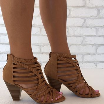 Beyond The Sun Heels in Tan
