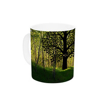 "Robin Dickinson ""Love Nature"" Forest Ceramic Coffee Mug"
