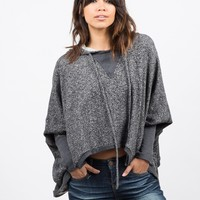 Draped Hooded Sweater