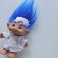 Vintage Ace Novelty Nurse Treasure Troll