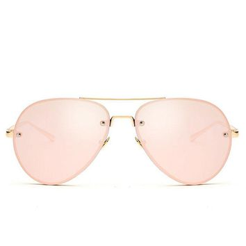 Aviation Rose Gold Classic Women Sunglasses