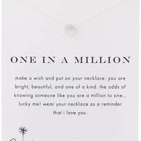 """Dogeared Reminders Sand Dollar Charm Necklace, 18"""""""