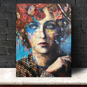 modern wall Wall art abstract  figurecanvas painting art  Wall Pictures print canvas Picture decor poster art portrait  print