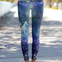 Unicorn Galaxy – Eco-Friendly Printed Performance Leggings